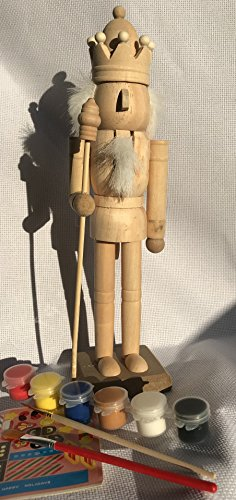 sweethome Paint Your own nutcrackers,Handmade 24cm Tall, DIY Soldier Nutcracker,unpainted nutcrackers with Blackboard. DIY kit,Painting DIY Set ()