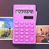 Yanbirdfx Candy Color Calculator8 Digits Pocket Mini Electronic Calculator Students Office Supplies (Pink)