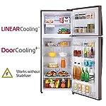 LG 471 L 3 Star Inverter Frost-Free Double Door Refrigerator (GL-T502FRS3, Russet Sheen)