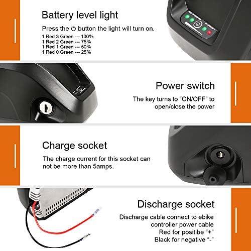36V12.5Ah HaiLong Ebike Battery Lithium-Ion Battery with Charger DIY E-bike