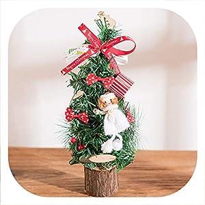 Memoirs- Artificial Mini Christmas Tree Many Style Christmas Day Decorations Home Desktop Decorative Wedding Decor,F 11