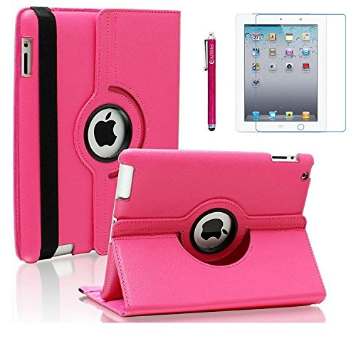 AiSMei Case for iPad 4 , iPad 3 , iPad 2 , Rotating Stand Ca