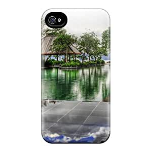 For Iphone 4/4s Tpu Phone Case Cover(fabulous Pool In A Malaysia Resort Hdr)