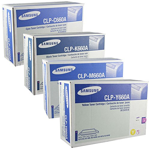 Samsung CLP-660 High Yield Toner Set BK 5500/Color 5000 Pages ()