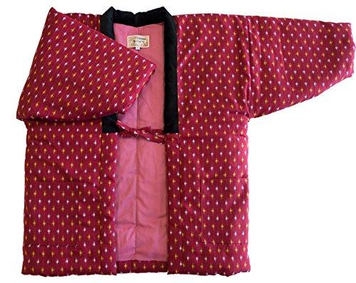 Watanosato Small Size Hanten (Cotton Jacket Made in Japan Kimono-style) Womens (Small, 56) - Haori Jacket