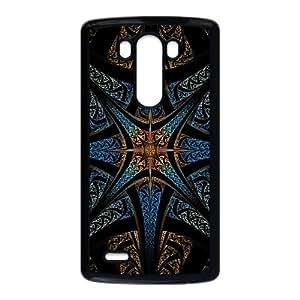 Star Like Fractal Design Abstract LG G3 Cell Phone Case Black yyfabc_125592