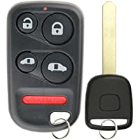 KeylessOption Keyless Entry Car Remote Fob With Uncut High Security T5 Ignition Transponder Key Replacement For OUCG8D-440H-A