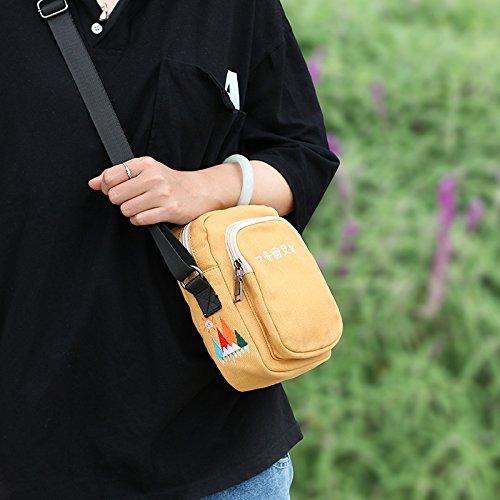 littérature Sac bandoulière Femelle Toile Petit Petit yellow Sen d'été épaule à sur Ginger Harajuku Sac Bisser BISSER Sac Fille Student même Girl Frais Une xz0f8n
