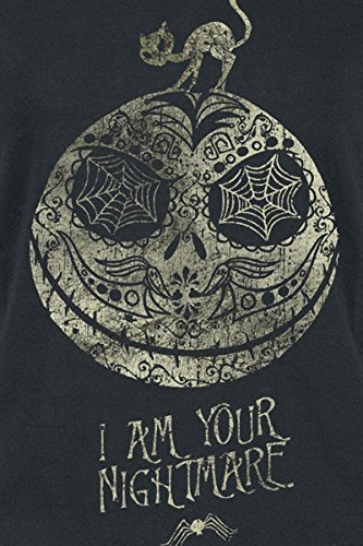 Pesadilla Antes De Navidad Jack - I Am Your Nightmare Camiseta Mujer Negro Negro