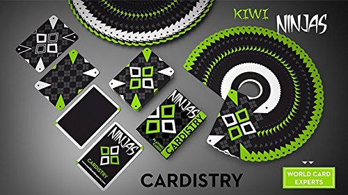 SOLOMAGIA Cardistry Kiwi Ninjas (Green) Playing Cards by ...