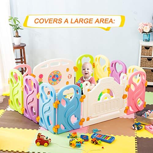 Harper Bright Designs DreamHouse Kiddie Playpen Home Baby Safety Playards Heart Style