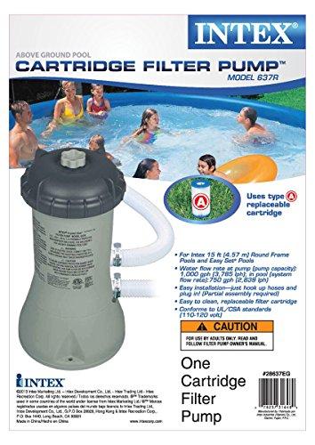 Intex 1000 Gph Filter Pump Amp Krystal Clear Saltwater Pool