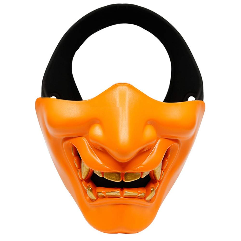 DLRUIHENGXIANGMU Riding Mask Halloween Mask Men and Women Half Face Protective Mask Lightweight Comfortable Breathable Outdoor Riding Tactical Equipment Halloween Party 6.3in x 5.11in by DLRUIHENGXIANGMU