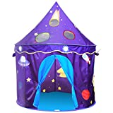 ALPIKA Castle Kids Tent Children Playhouse With Rocket Pattern Toy Play Tent With Carrying Case As a Gift For Boys&Girls
