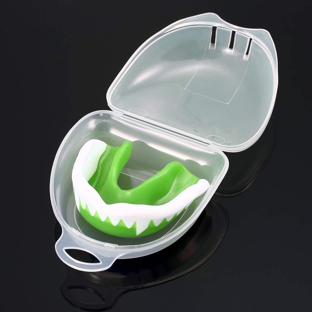 Lepeuxi Sports Protecteur buccal Prot/ège-Dents Boxe Karat/é Muay S/écurit/é Bouche-gardes Prot/ège-Dents