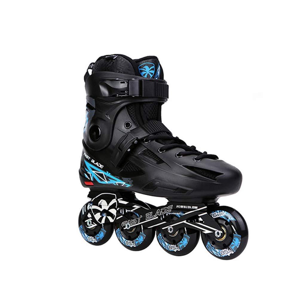 LIUXUEPING ローラースケート、 ローラーシューズ、 アダルトスケート、 初心者のフラットシューズ (色 : 青, サイズ さいず : 40) 青