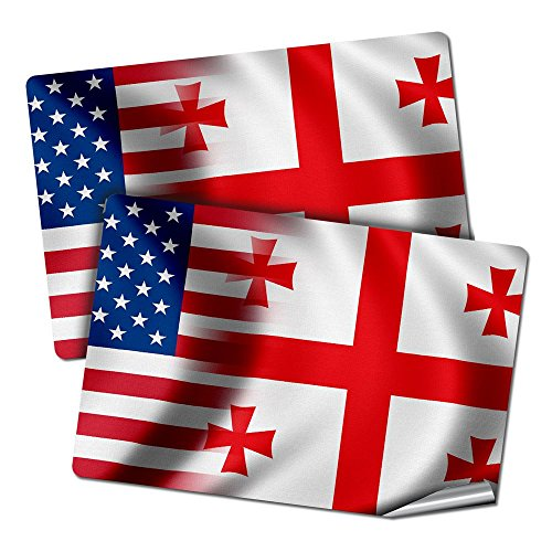Stickers Flag Georgia (ExpressItBest Two 2