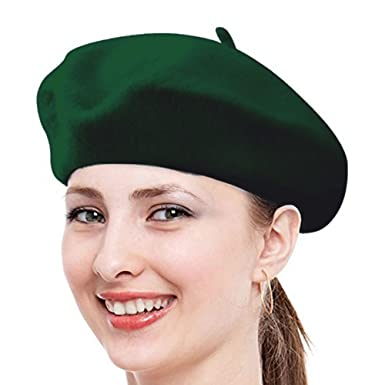 3f842617367 Babe Mall Inc® Hunter Green New Fashion Solid Color Warm Wool Winter Women  Girl Beret French Artist Beanie Hat Ski Cap For Female  Amazon.co.uk   Clothing