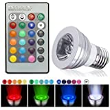 HDE Dimmable LED Lamp Light Bulb Color Changing E27 Standard Screw Base with Remote Control