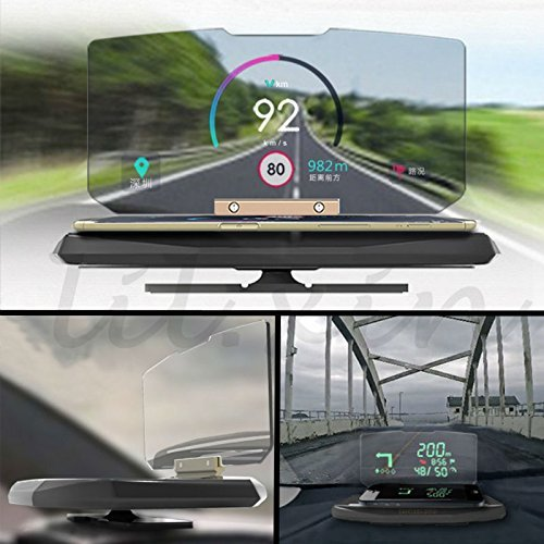Amazon.com: ONX3 Motorola Moto Z Force Universal Car HUD Holder Bracket For Mobile Phone Display GPS Navigation Image Reflector Head Up Display Projector: ...