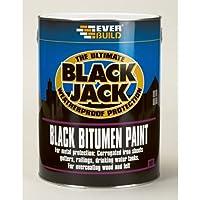 Everbuild 90105 - Black Bitumen Paint 901 5L by Everbuild