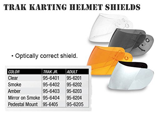 Vega Shield for Trak Karting Helmet (Silver Mirror on (Mirror Smoke Helmet Shield)