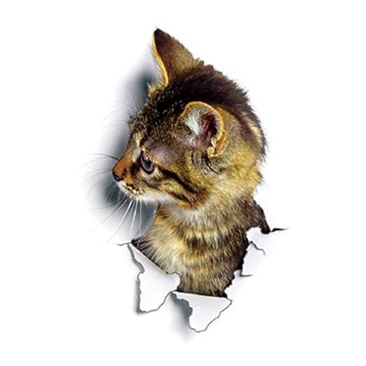 Mengonee DIY 3D del Gato extraíble Aseo Cartel Pegatinas ...