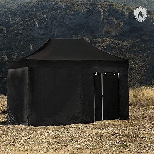 Regalos Miguel - Carpas Plegables 3x4,5 - Carpa 3x4,5 Master Ignífuga (Kit Completo) - Negro - Envío Desde España: Amazon.es: Hogar