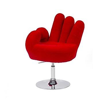 Cribel Sessel In Hand Form Mit Verchromtem Metall Mikro Seide