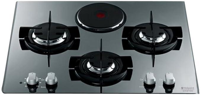 San Francisco 5fea1 6779d Hotpoint-Ariston TD 631 Sixhaice Plaque de Cuisson Mixte Electrique et Gaz  Intégrable 60 cm Inox