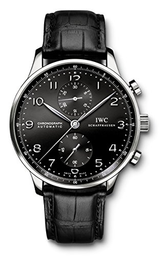 IWC Men's Swiss Quartz Stainless Steel Watch, Color:Black (Model: IW371447)