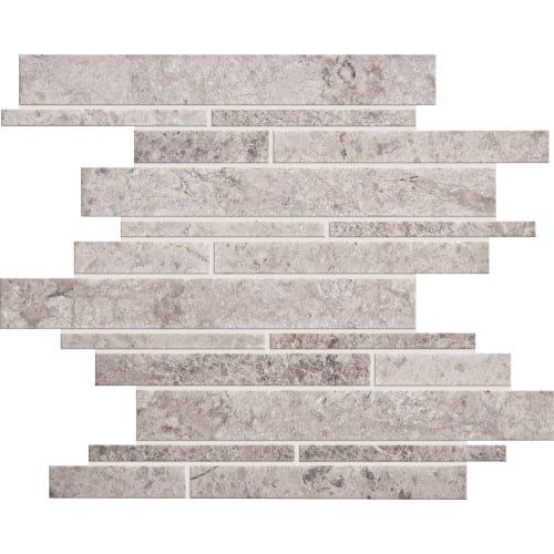 Dal-Tile L701RDMMS1U- Limestone Tile, Siberian Tundra Random Linear Mosaic 3/8 Honed -  Dal - Tile
