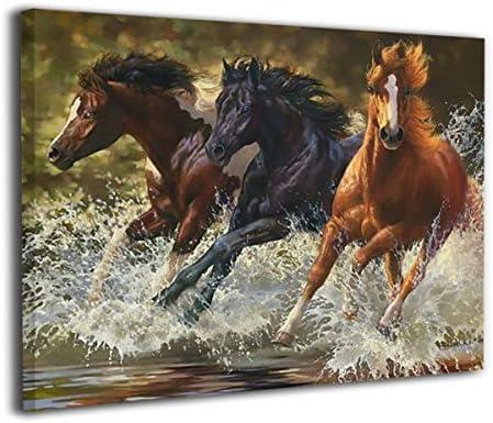 K-Duck 馬 アートパネル アートフレーム アートポスター Art キャンバス絵画 壁掛け インテリア 現代 壁飾り ポスター 写真 木枠付きの完成品 新築飾り 贈り物 40x50cm