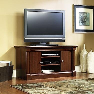 Sauder Palladia Panel TV Stand, Select Cherry Finish (Finished Wood Tv Stand)