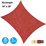 AsterOutdoor Sun Shade Sail Rectangle 16' x 20' UV