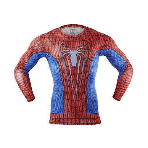 M.Baxter Herren Fitness T-Shirt Funktionsshirt Jogging Bewegung Kompressionsshirt Kurzarm Laufshirt Sportbekleidung (B, XL)