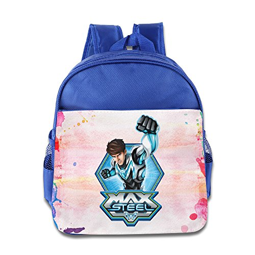 BERTHA Max Steel School Bags For Kids In Nursery RoyalBlue