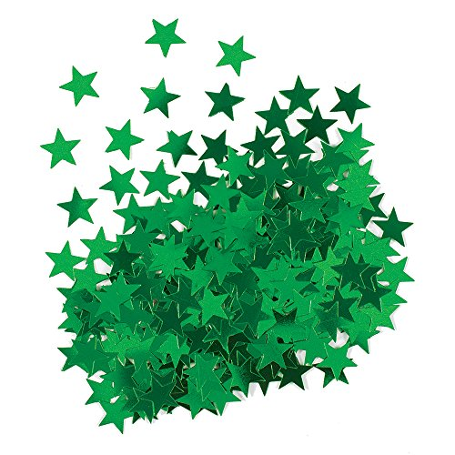 Metallic Green Star Confetti -