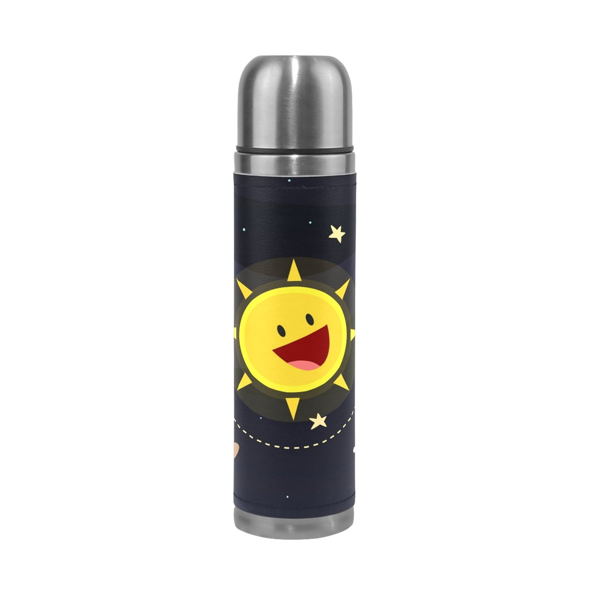 XinMing Solar System Planet Stainless Steel Water Bottle Insulated Vacuum Cup 14oz Double Walled Thermos for Sport Events