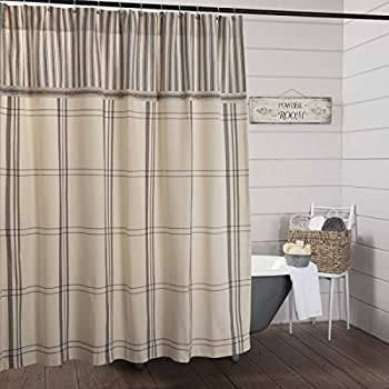30OFF Weeya VINTAGE FARMHOUSE GRAIN SACK Shower Curtain 60x72 Inch