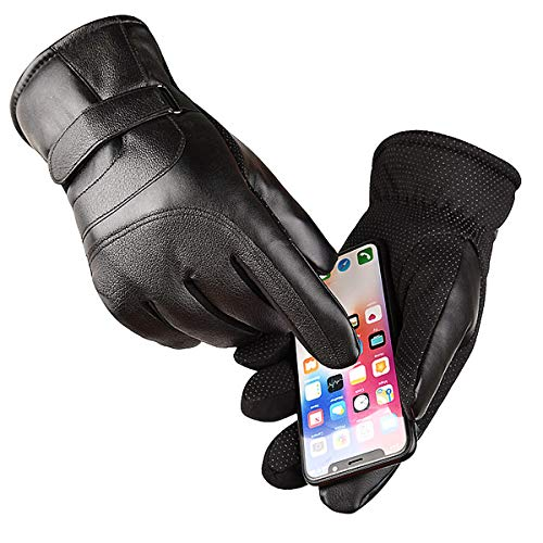 Touch Screen Winter Gloves Waterproof & Windproof for Motorcycle,Cycling,Riding,Running,Snow Sports, -10°F Cold Proof Cold Weather Gloves Warm Thermal Gloves for Men and Women Black (Medium)