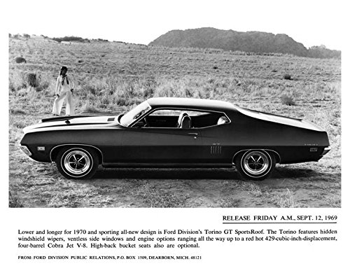 1970 Ford Torino GT SportsRoof Automobile Photo Poster