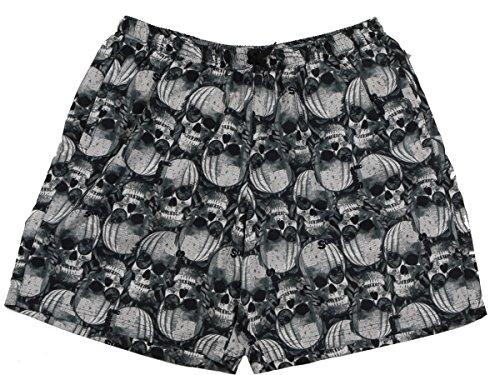 Übergrößen !!! Schick! Bade-Shorts von MARC & MARK JIM 2 Skull schwarz/grau 3XL - 10XL