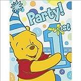 Winnie the Pooh Boy's 1st Birthday Invitations w/ Envelopes (8ct) by Hallmark
