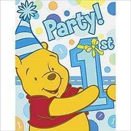Amazon winnie the pooh boys 1st birthday invitations w winnie the pooh boys 1st birthday invitations w envelopes filmwisefo
