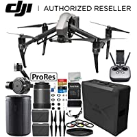 DJI Inspire 2 Quadcopter with Apple ProRes License with 16mm f/2.8 ASPH ND Lens & Zenmuse X7 Camera and 3-Axis Gimbal Bundle