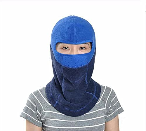 WanJiaMen'Shop Winter Fleece Reiten Hooded Skate hat Motorrad Gesichtsschutz Gesichtsschutz Winddichte Winter Herren Winter hat, F