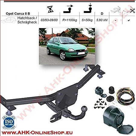 13pol universell E-Satz Für Opel Corsa B Combo 94-01 ANHÄNGERKUPPLUNG starr