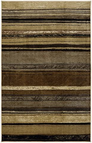 Mohawk Home New Wave Rainbow Neutral Striped Printed Area Rug, 7 6×10 , Tan