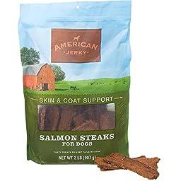 American Jerky Skin & Coat Support Salmon Steaks Dog Treats, 32 oz.